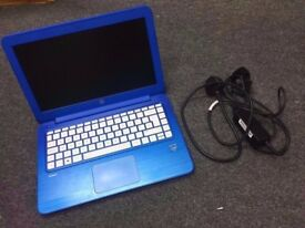 HP STREAM 13 LAPTOP/NETBOOK MATTE BLUE INTEL CELERON 1.6GHz **LIKE NEW**WITH ORIGINAL CHARGER**