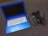 Used, HP STREAM 13 LAPTOP/NETBOOK MATTE BLUE INTEL CELERON 1.6GHz **LIKE NEW**WITH ORIGINAL CHARGER** for sale  Nottinghamshire
