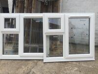 Pair of matching UPVC windows (96 cm h x 105 cm w )