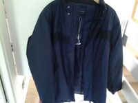 Mens jacket. Dark navy, Make: Harbour Bay . Size: Medium. Brand new.
