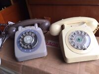 Vintage G.P.O telephones in perfect working order, great props