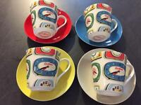 Cath Kidston Clocks cups and saucers set