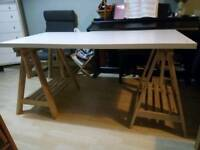 IKEA trestles plus worktop