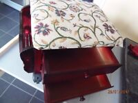 Footstool with drawers and Tapestry top
