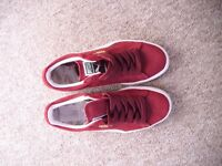 Red Puma Suedes size worn once