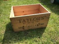 Vintage port wooden box planter lovely size upcycle repurpose