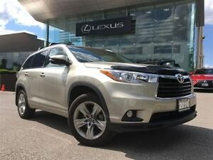 2016 Toyota Highlander 1 Owner Limited AWD Navi Backup Cam  Sunr