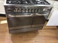 Gas cooker and fridge freezer