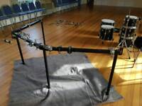 Pearl DR80 3 sided drum rack with clamps