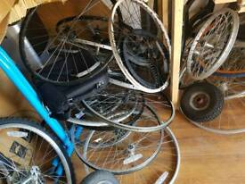 A lot of bikes wheels includes range of sizes