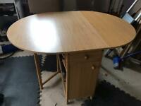 IKEA table & 4 chairs- space saving