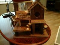 Wooden house for small hamsters