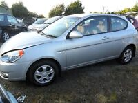 hyundai accent parts from 2006 1.4 petrol car silver 3 door