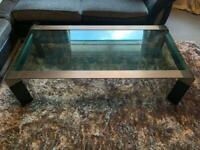 Black/Chrome Glass Coffee Table