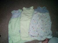 3 6-12 month sleep suits / grow bags