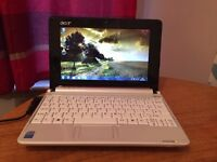 Acer aspire one netbook 160gb hdd storage 1gb ram Windows 7
