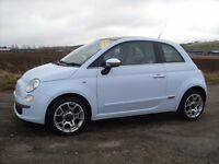2008 FIAT 500 LOUNGE 1.4 STUNNING CAR MUST SEE GREAT RUN AROUND BLUE 57,000 MILES £4750 OLDMELDRUM