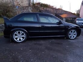 Vauxhall Astra GSI black 2004 long mot,recent service good condition .