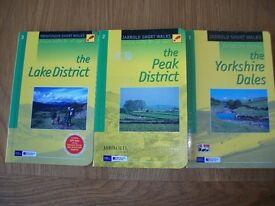 Walking books 3 Pathfinder Yorkshire dales Peak district and Lake district