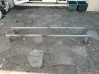 Ford Transit roof bars x 2 saunders heavy duty galvanized steel with load stops