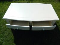 VINTAGE/RETRO LARGE COFFEE TABLE WITH 2 DRAWERS