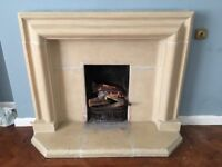 Stone fire place surround