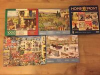 Jigsaw Puzzles x 5 (WHSmith and Gibsons)