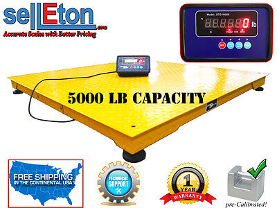 Optima Floor Scale Pallet Skid Crate 5000lb X1lb Industrial 40x40