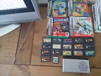 Ds lite with few ds games and a load of gameboy advance games