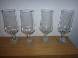 Beer glasses set of 4