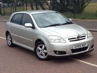 2005 Toyota Corolla t3 1.6 , finance from £25 a week , history , 2 owners ,focus,astra,civic,megane