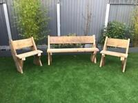 Garden furniture . Bench and 2 seats
