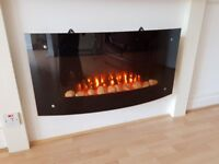 Wall Mounted Electric Fire & Remote Control