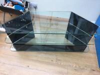 Greenapple Black Glass Plasma TV Stand