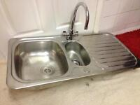 Stainless Steel Sink with Mixer Tap.