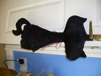 BLACK CAT HOT WATER COVER WITH HOT WATER BOTTLE