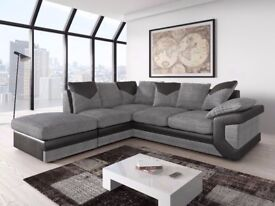 **CLASSIC FURNITURE SALE** Dino Cord Fabric Corner Suite or 3 and 2 Sofa Set SAME DAY DELIVERY!