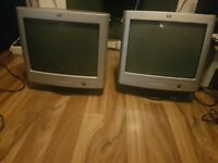 "17"" HP CRT VGA Monitor Great for office, old school gaming etc"