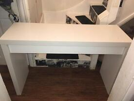 WHITE IKEA MALM VANITY / DRESSING TABLE