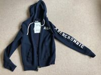 Abercrombie & Fitch Medium zip hoodie blue
