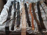 Bundle of womens belts