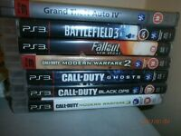 Playstation 3 PS3 games bundle - Call of Duty (Black Ops, Modern Warfare 2 & 3, Ghosts), GTA4 & more