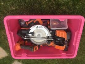 AEG 18v power tool kit