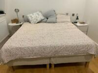 Super King mattress and bedframe