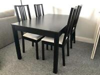 Ikea Dining table with 4 x chairs