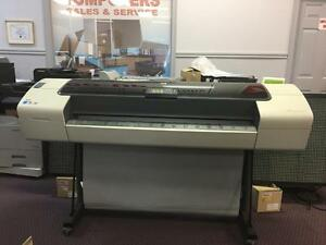 "HP DesignJet T1100ps Large Format inkjet Color Printer 44"" wide format Plotter Cutter - BUY or RENT"