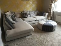 Large Corner Sofa with stool