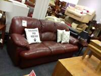 Brilliant brown leather sofa
