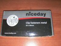 Niceday Metal Clip Fasteners £2