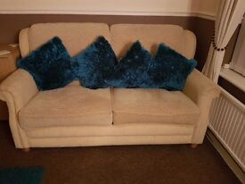 2 seater sofa, extra cushions so can also be a 3 seater sofa